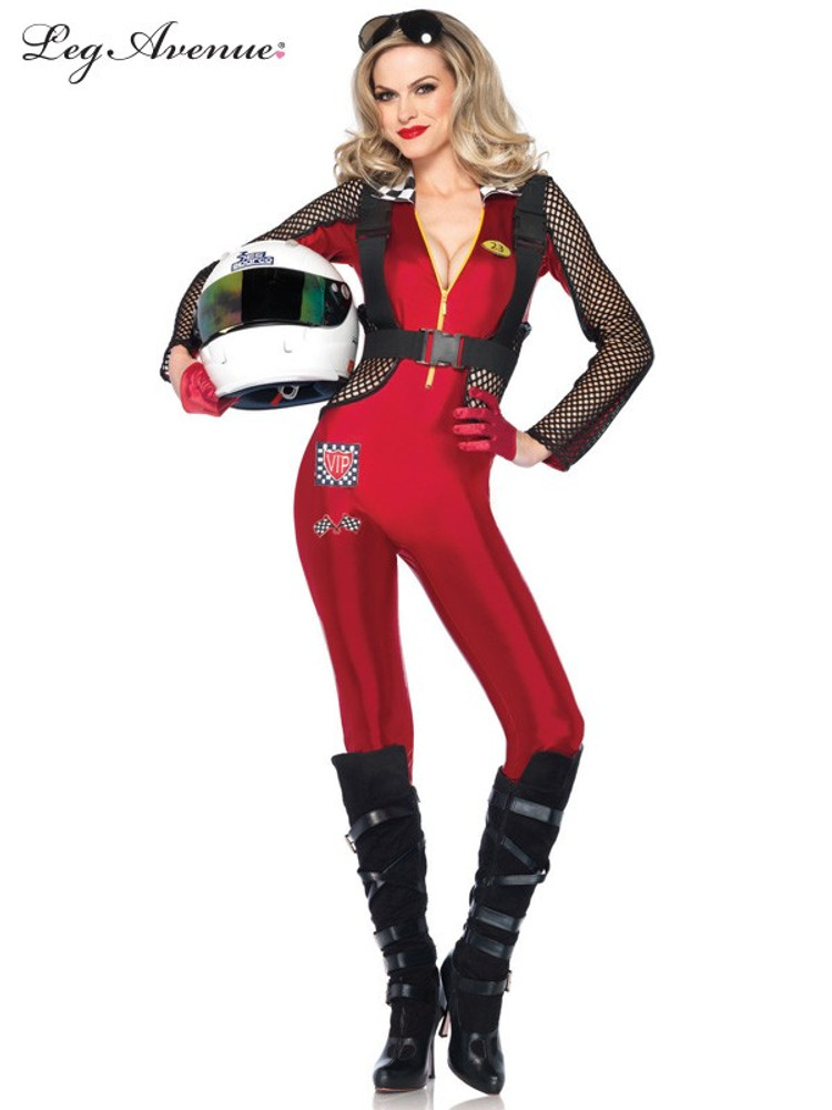 Pitstop Penny Racing Suit Womens Costume