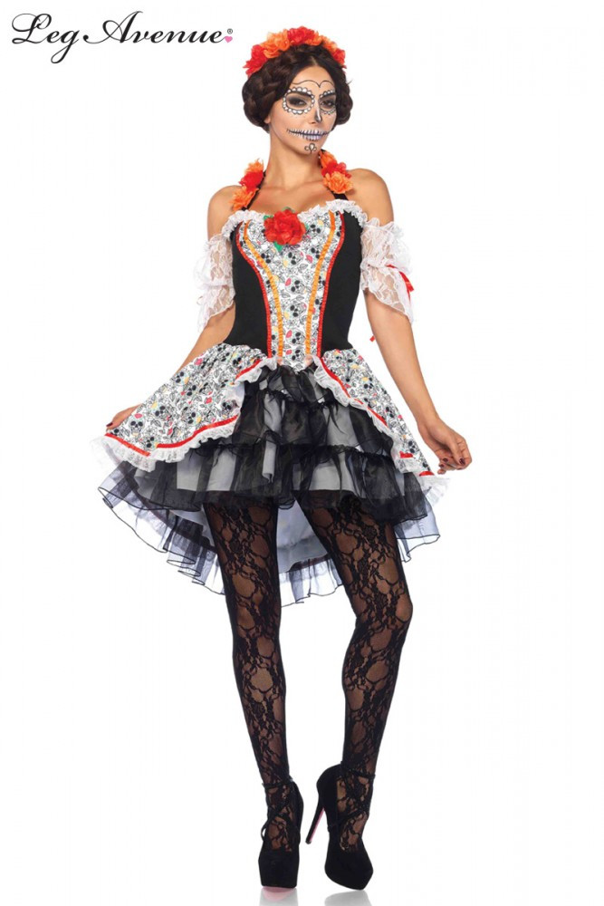 Sugar Skull Senorita Womens Costume