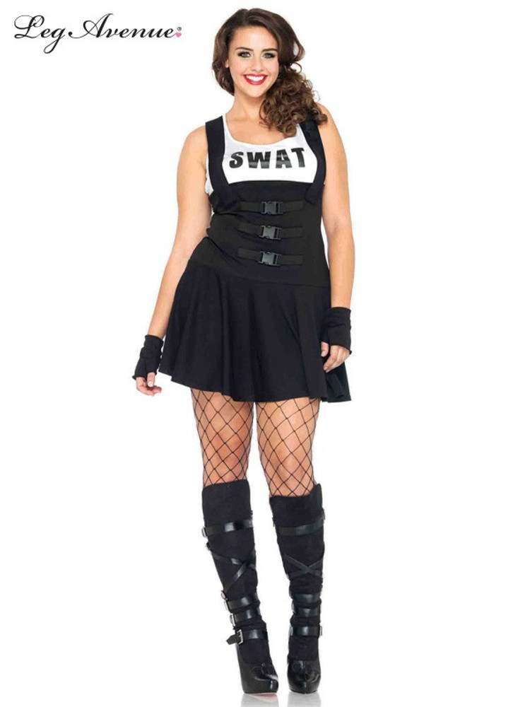 Police Swat Officer Sultry Plus Womens Costume
