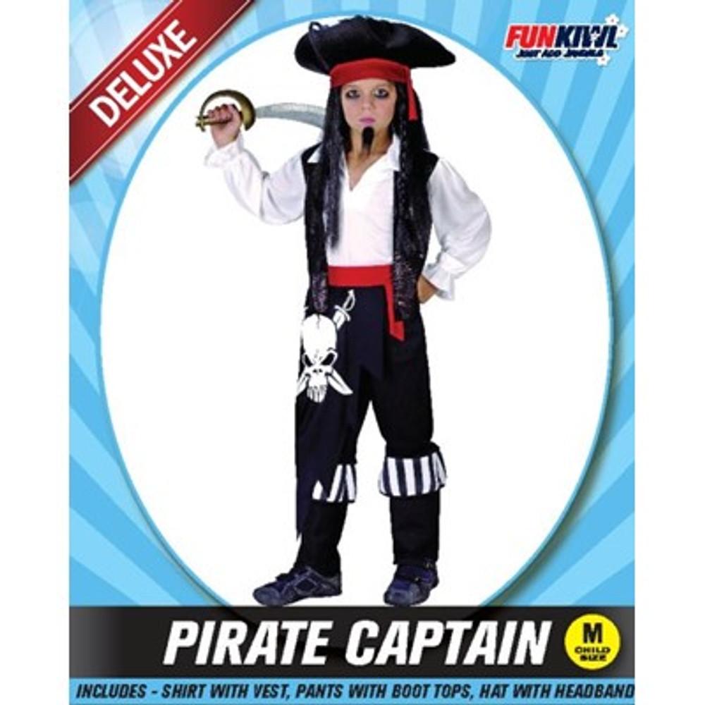 Pirate Captain Boys Costume