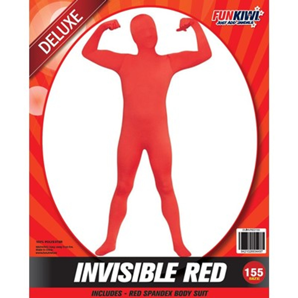 Invisible Red Kids Costume