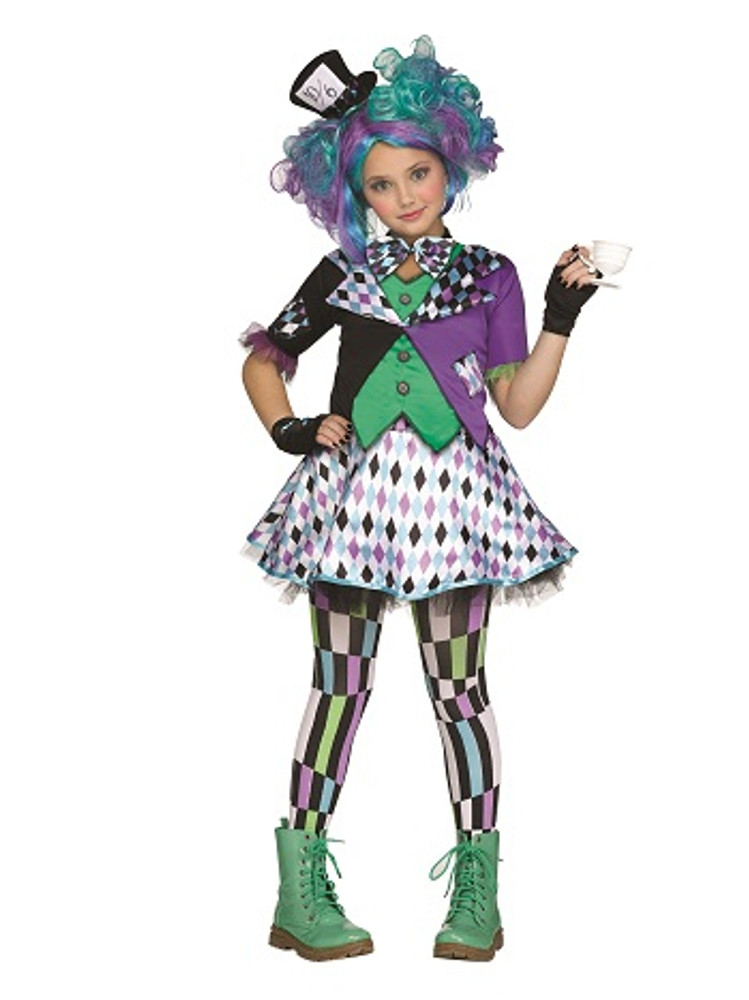 Mad Hatter Tween Girls Costume