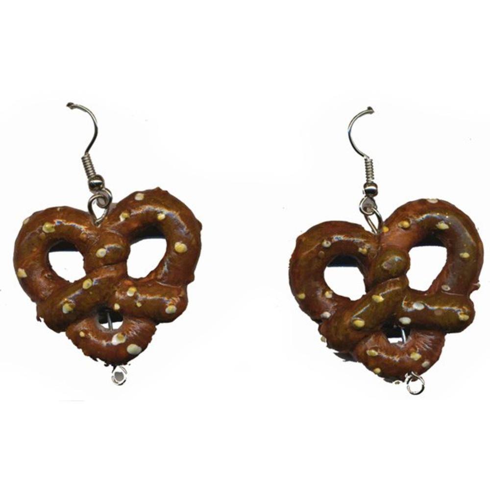 Oktoberfest Pretzel Pierced Earrings