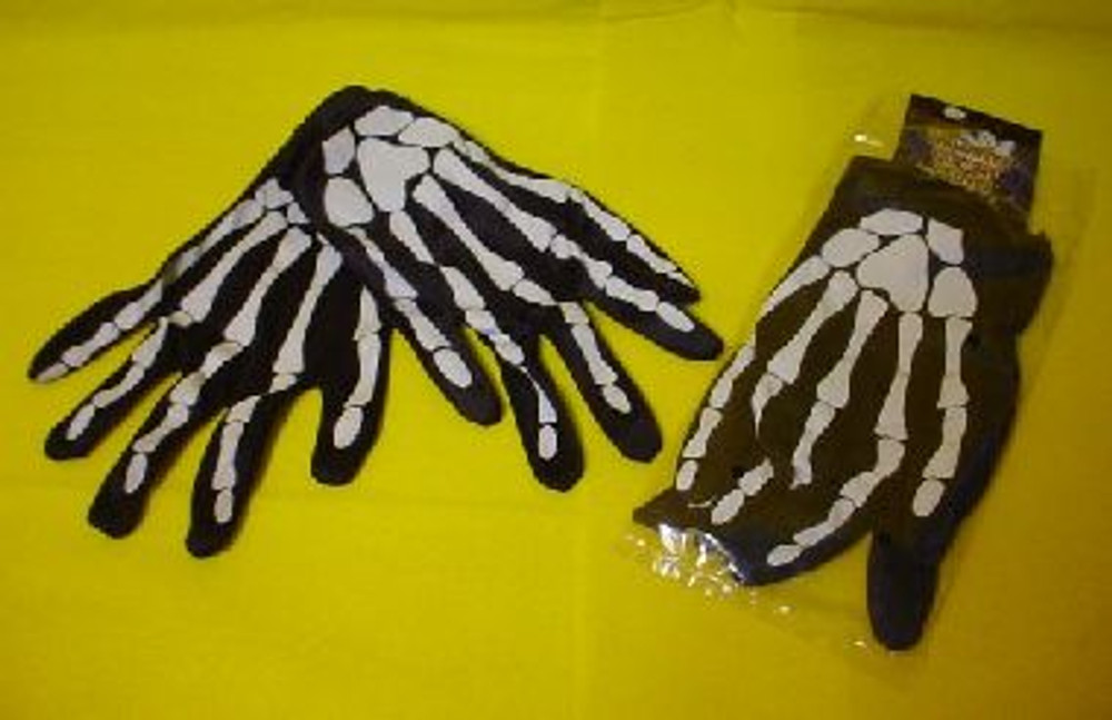 Skeleton Gloves Adult