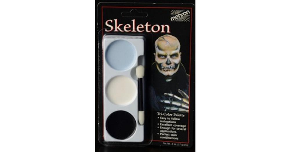 Mehron Tri-Colour Make-up Palette - Skeleton