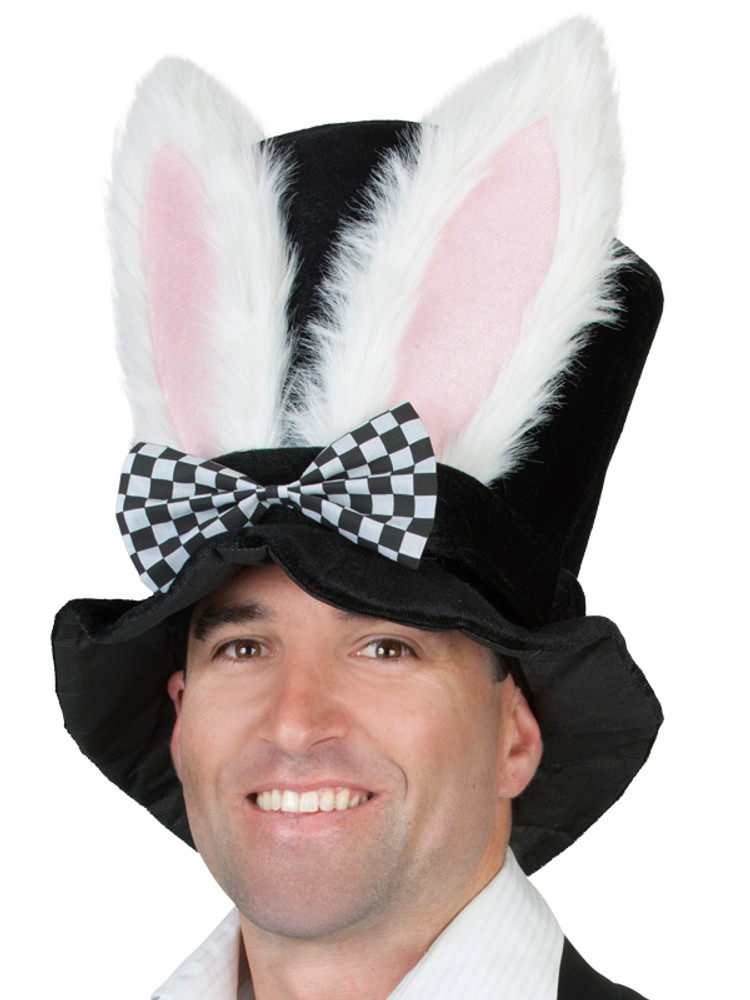 Top Hat - Black with Rabbit Ears