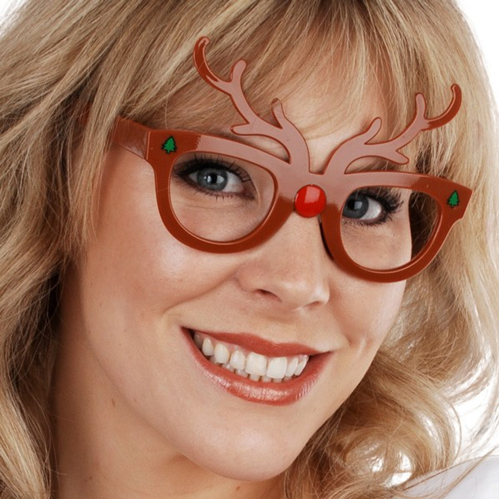 Reindeer Christmas Glasses