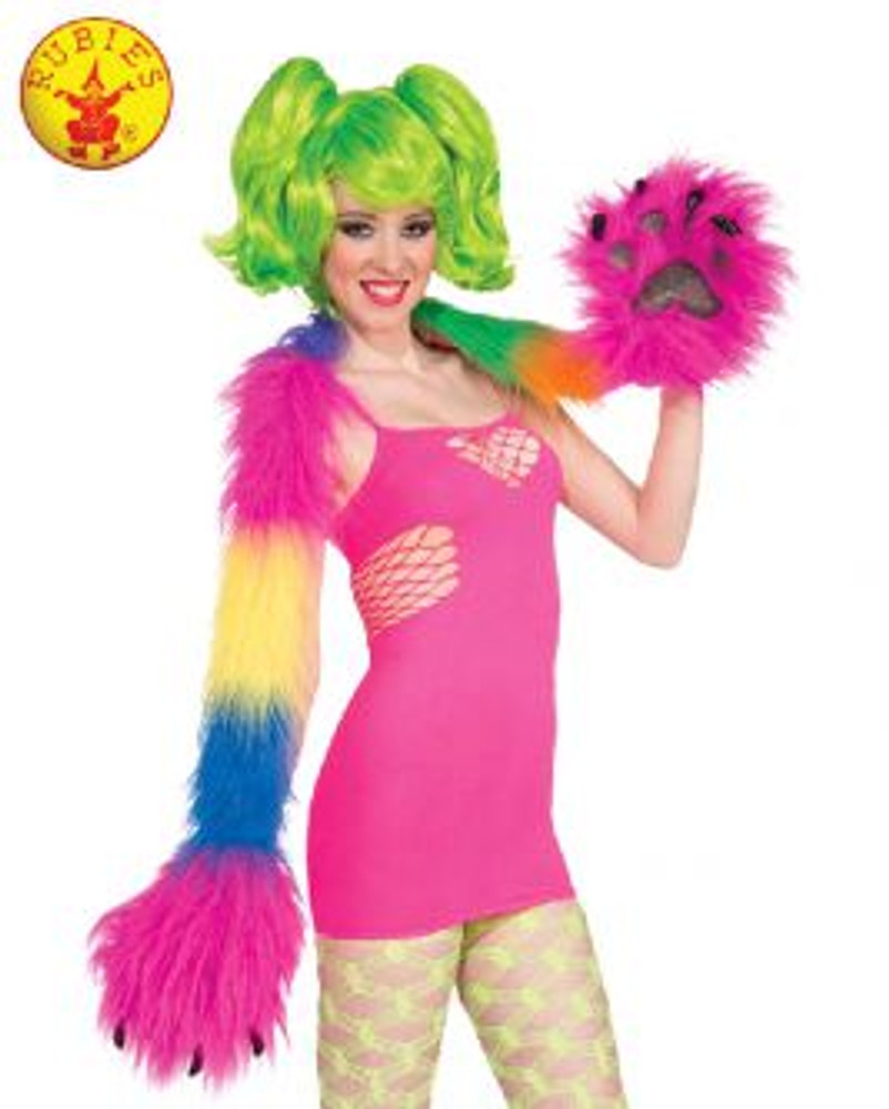 Rainbow Monster Mitt Scarf