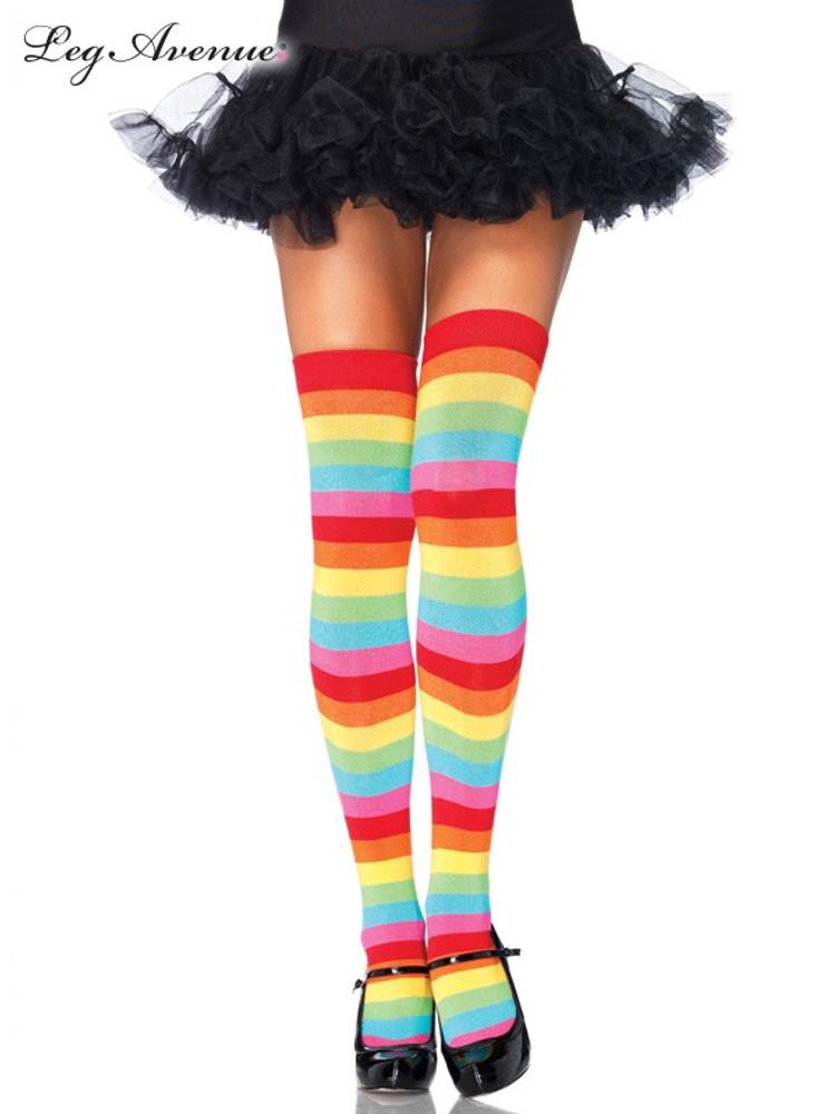 Thigh High Stockings Rainbow