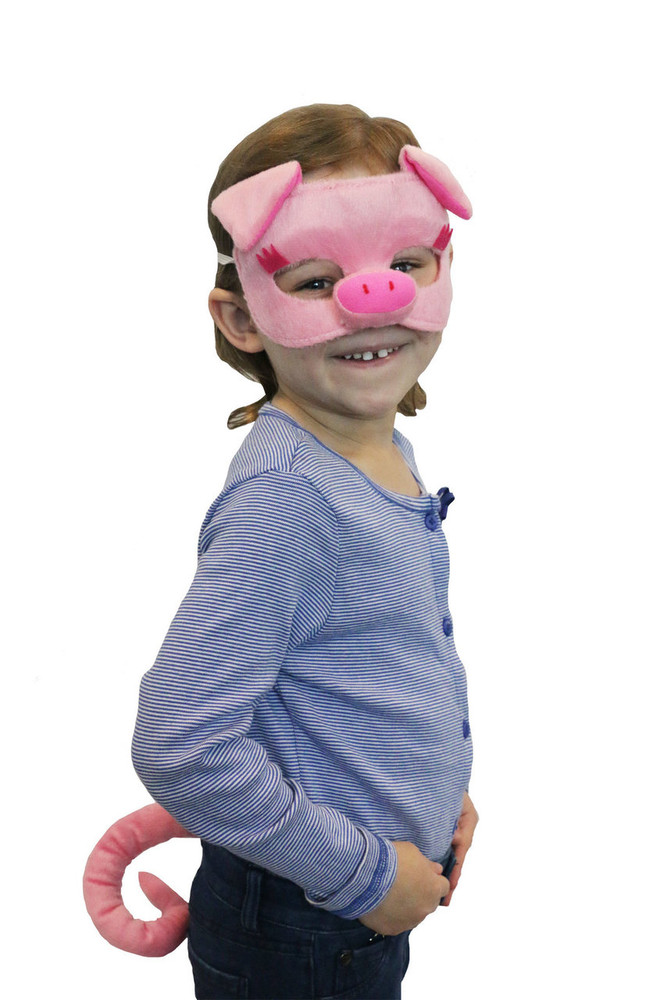 Pig Animal Mask & Tail Set