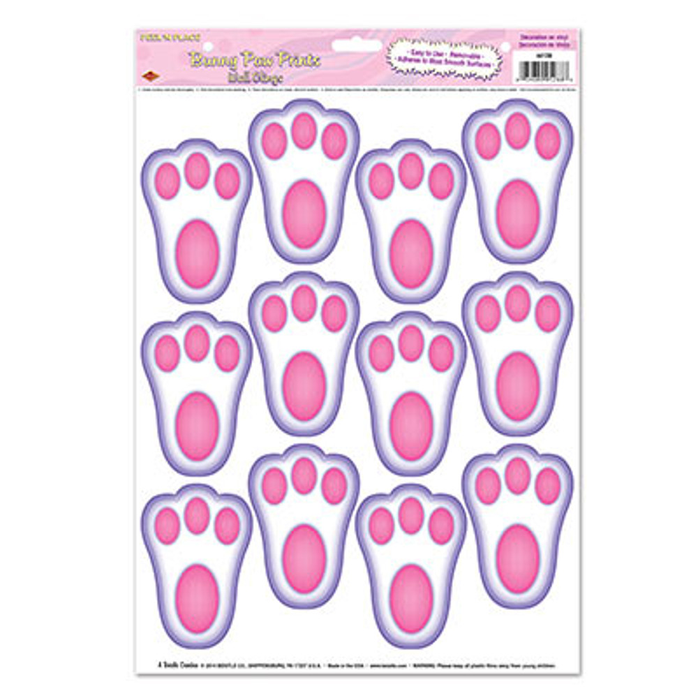Easter Bunny Paw Prints Peel N Place