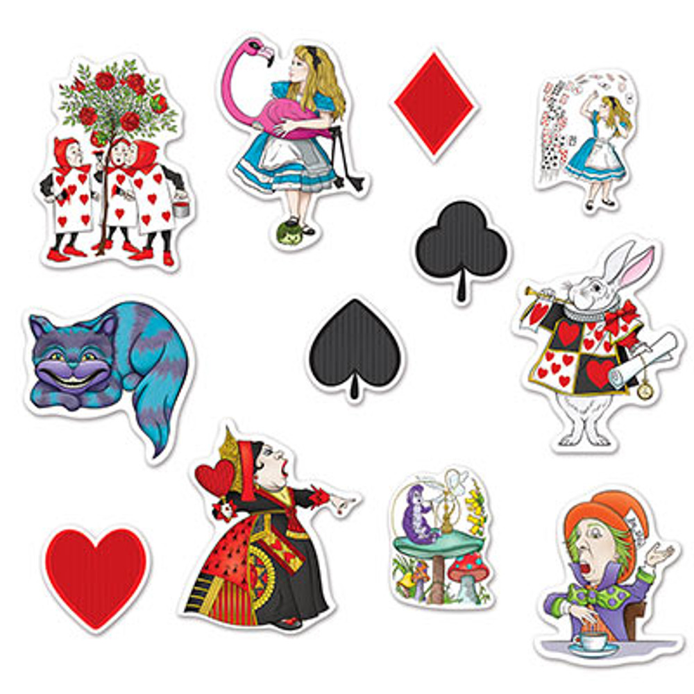Alice in Wonderland Cut Outs