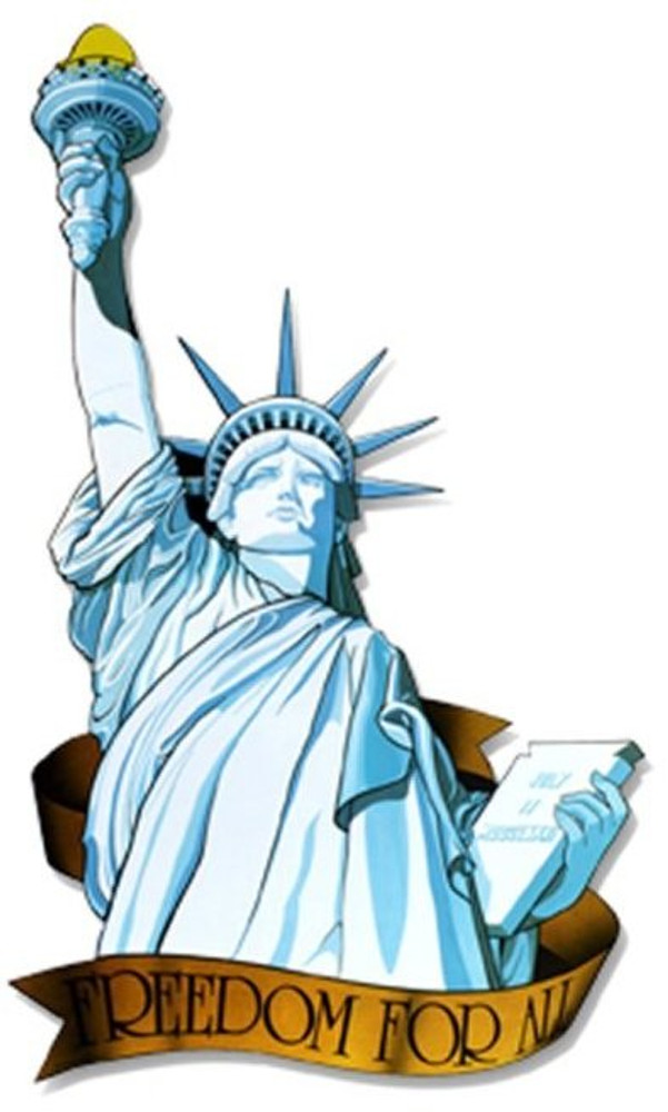 American Miss Liberty Cut Out