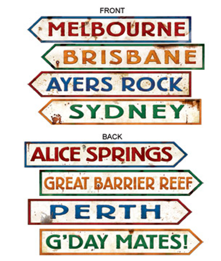Australian Street Sign Cut Out