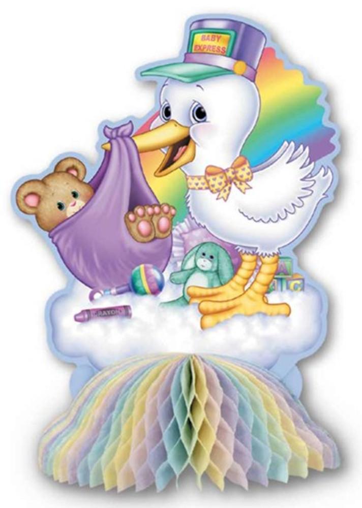 Baby Shower Cuddle Time Centrepiece Stork