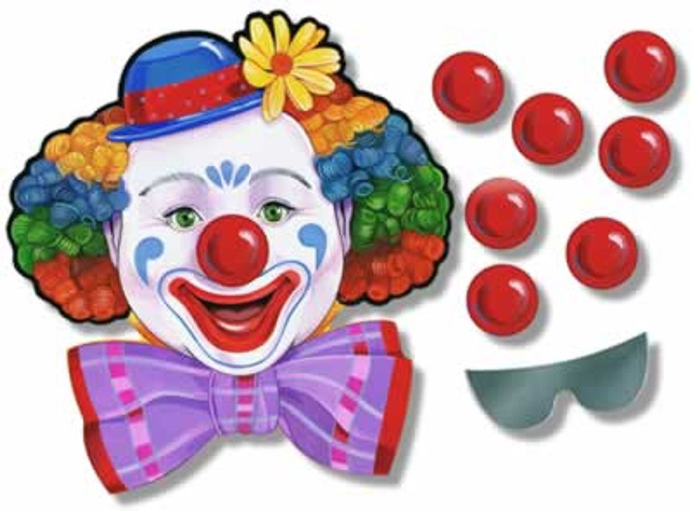 Circus Clown Game - Pin the Nose on the Clown