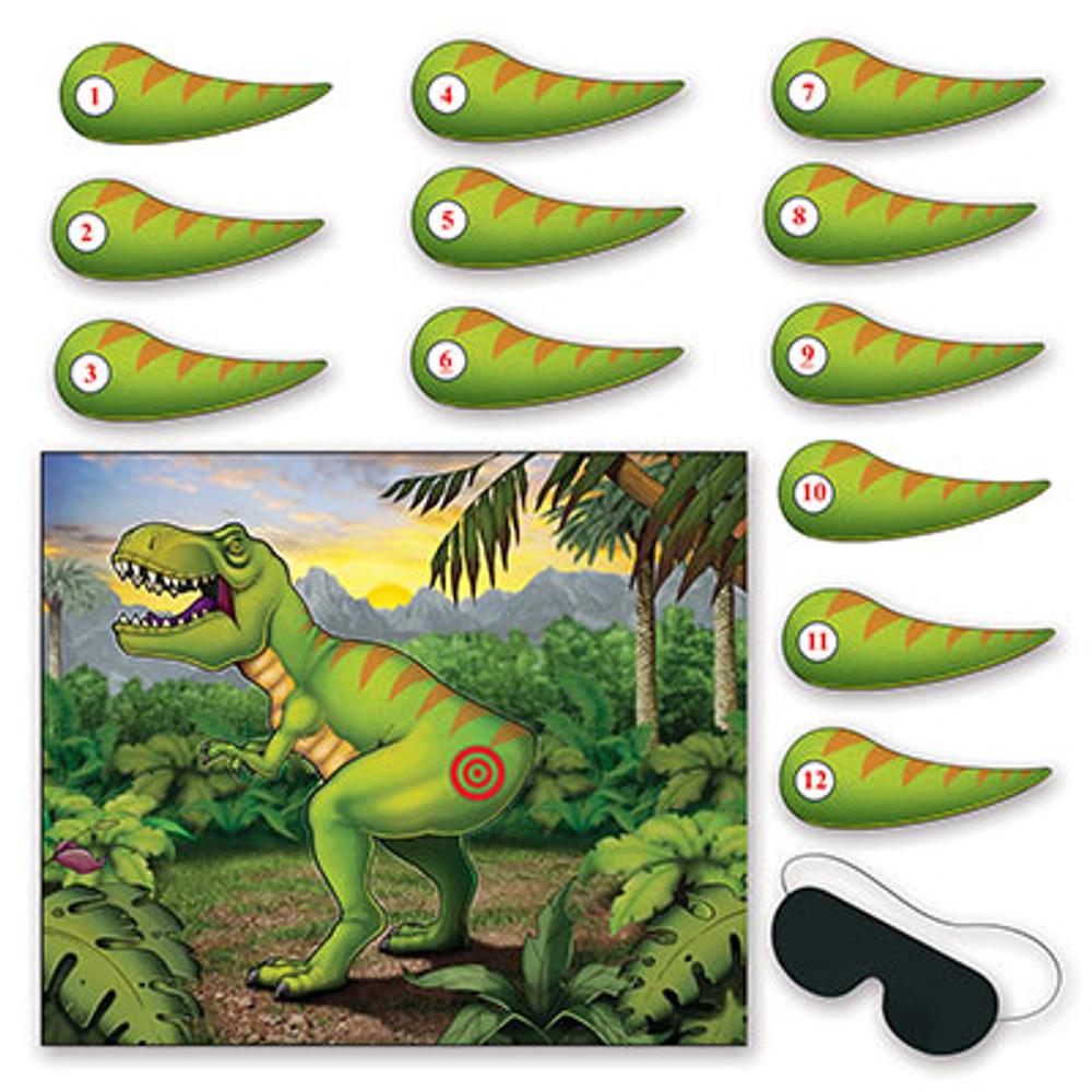 Dinosaur Game Pin the Tail on the Dinosaur