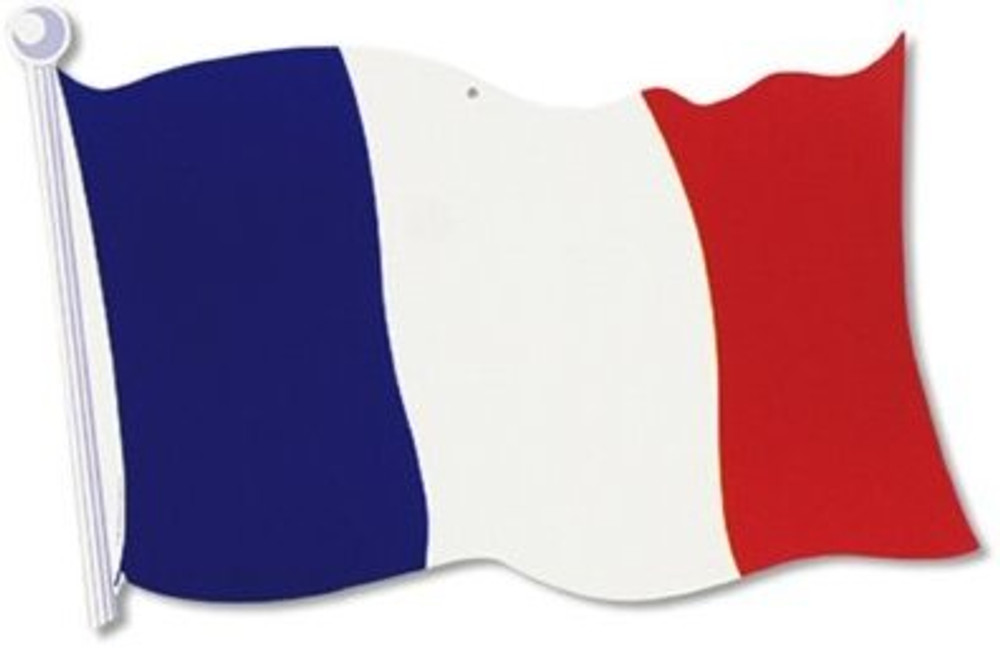 French Flag Cut Out