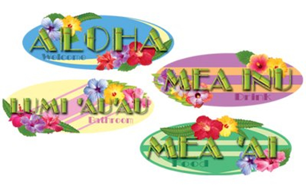 Hawaiian Sign Cut Outs
