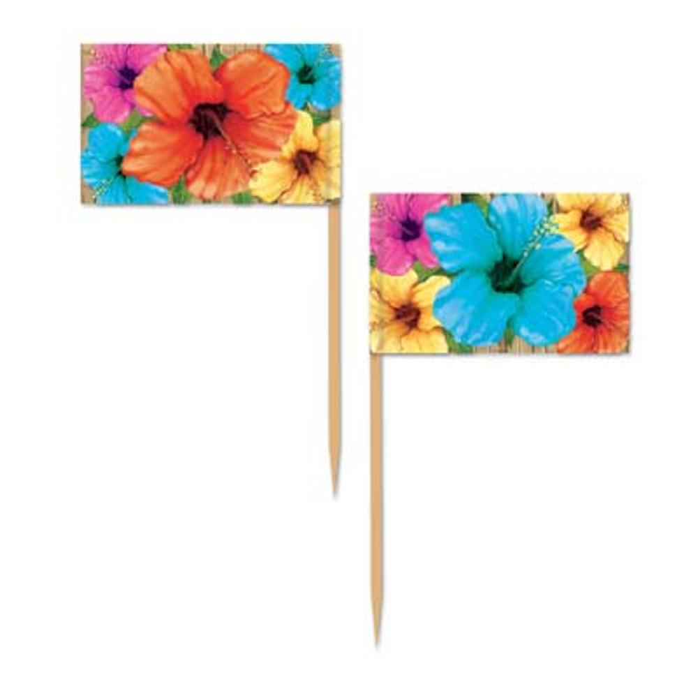 Hibiscus Flower Toothpicks