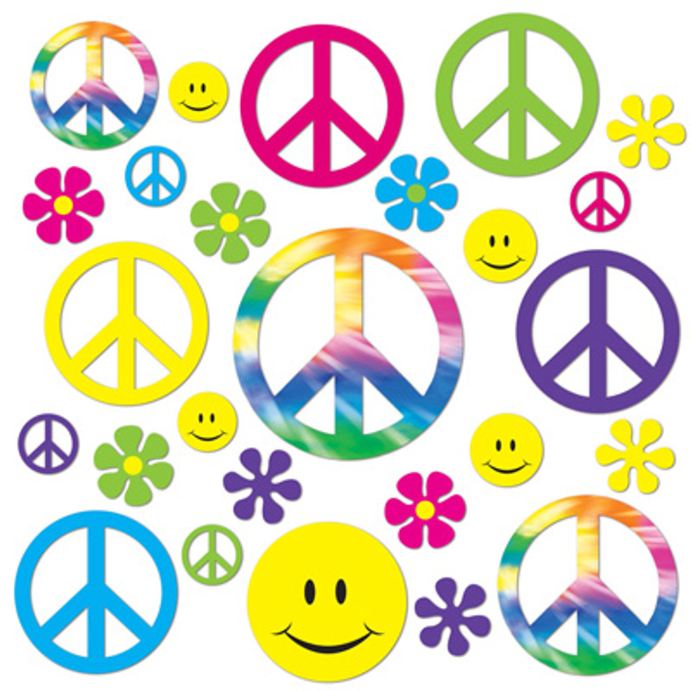 Hippie 60's Retro Cut Outs