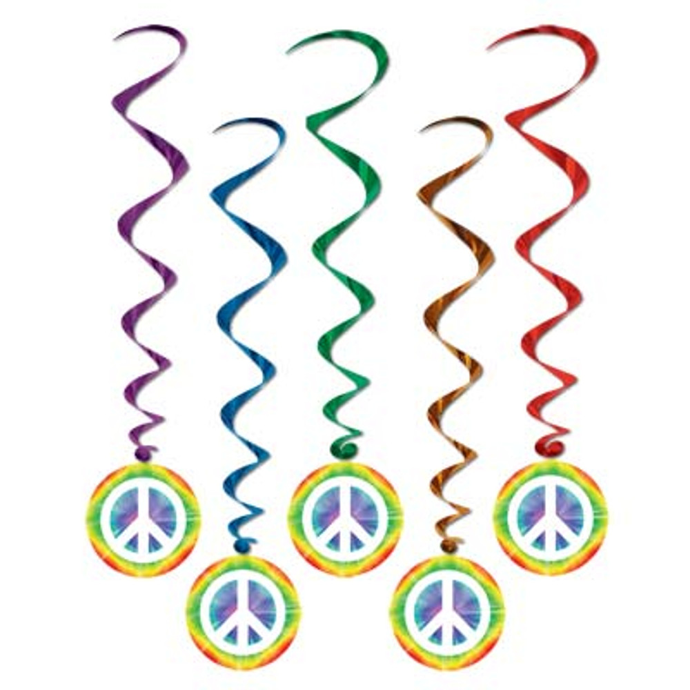 Hippie Peace Sign Whirls
