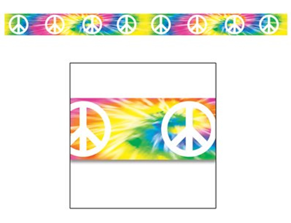 Hippie Tye-Dyed Caution Tape