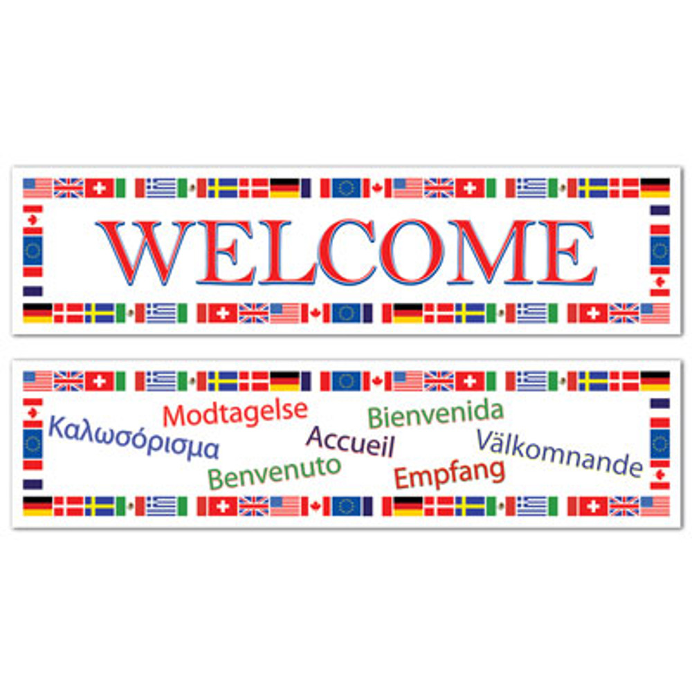 International Welcome Banner