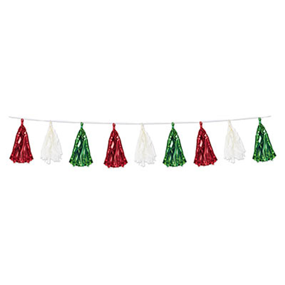 Garland Tassel Red, Green & White