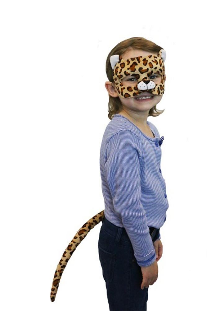 Leopard Animal Mask & Tail Set