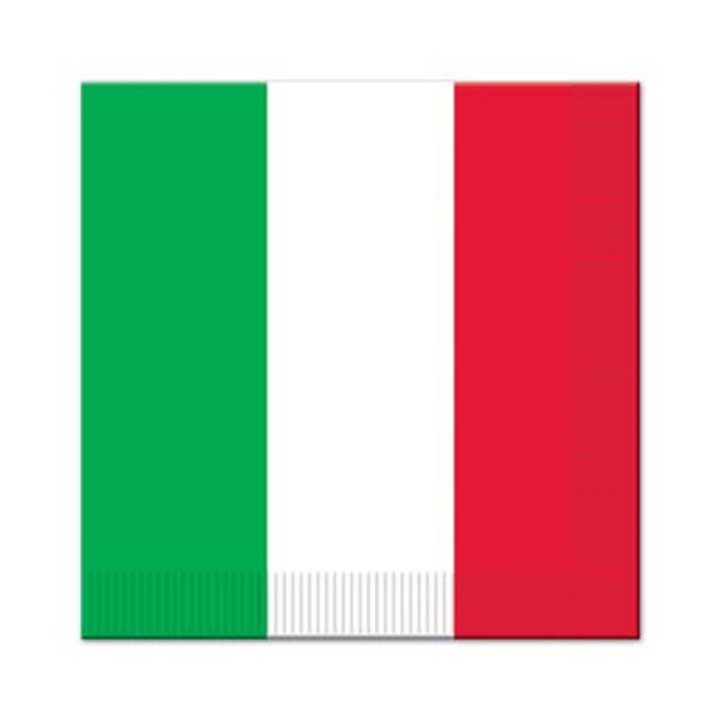 Italian Luncheon Napkins Red, White & Green