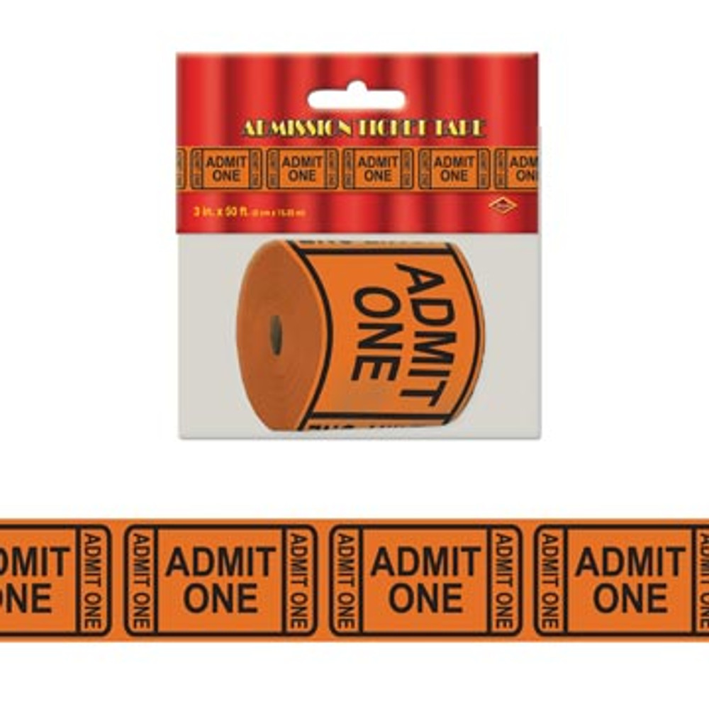 Movie Admit One Tick Tape