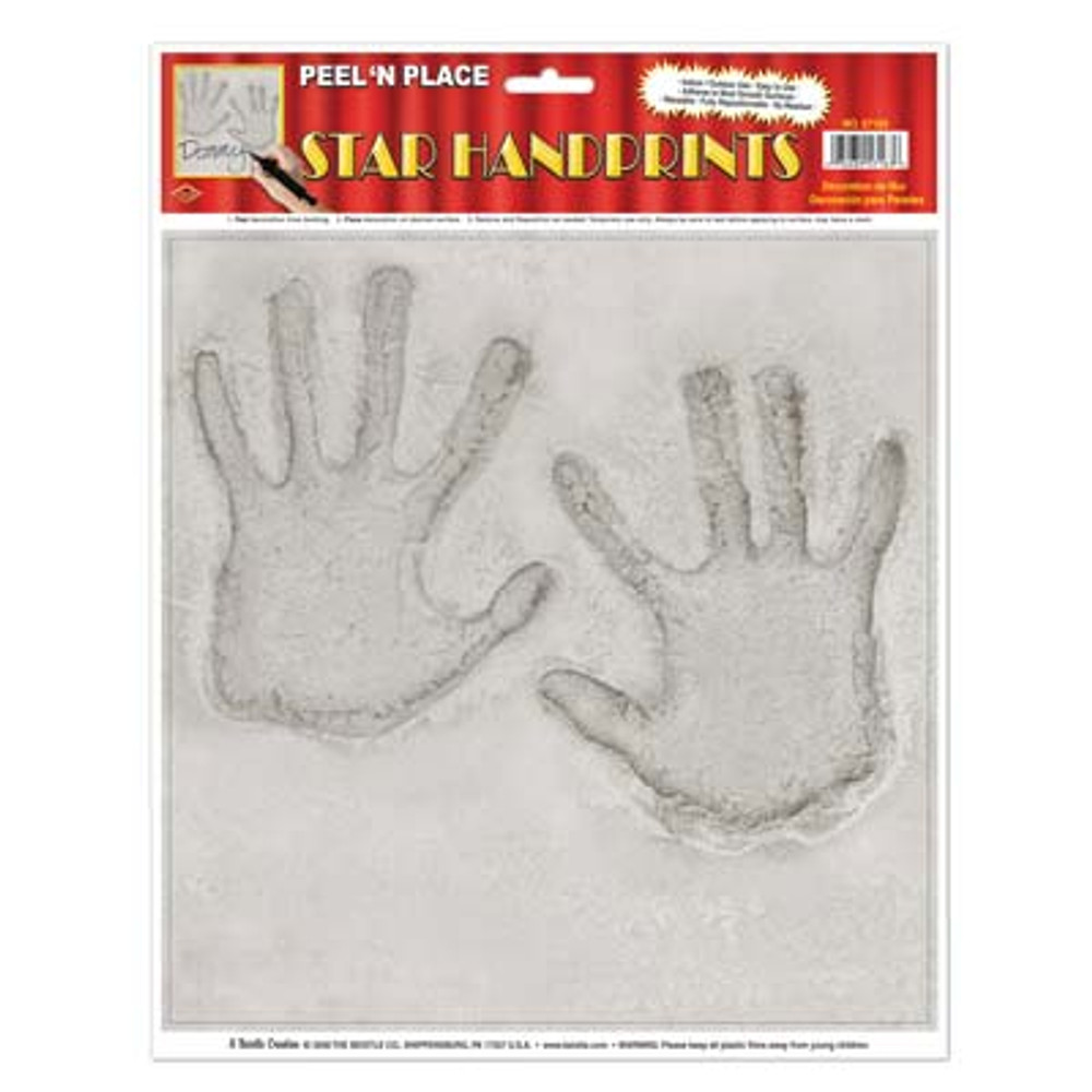 Movie Star Handprint Peel N Place