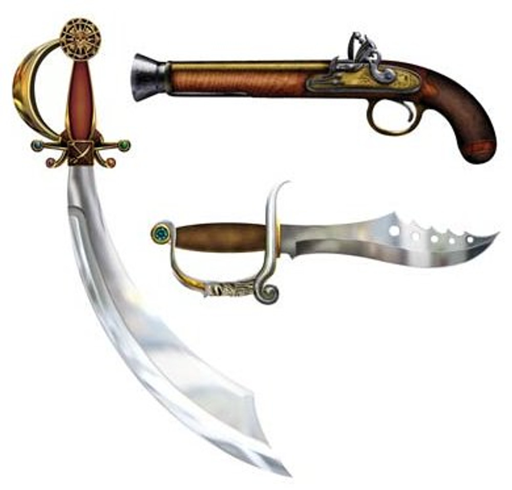 Pirate Weapon Cutouts