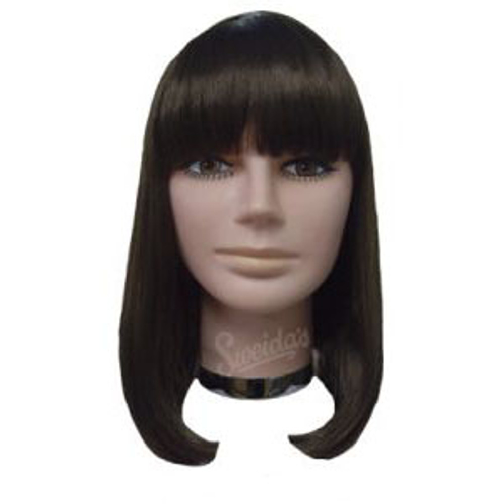 Peggy Sue Medium Bob Wig w Fringe - Brown