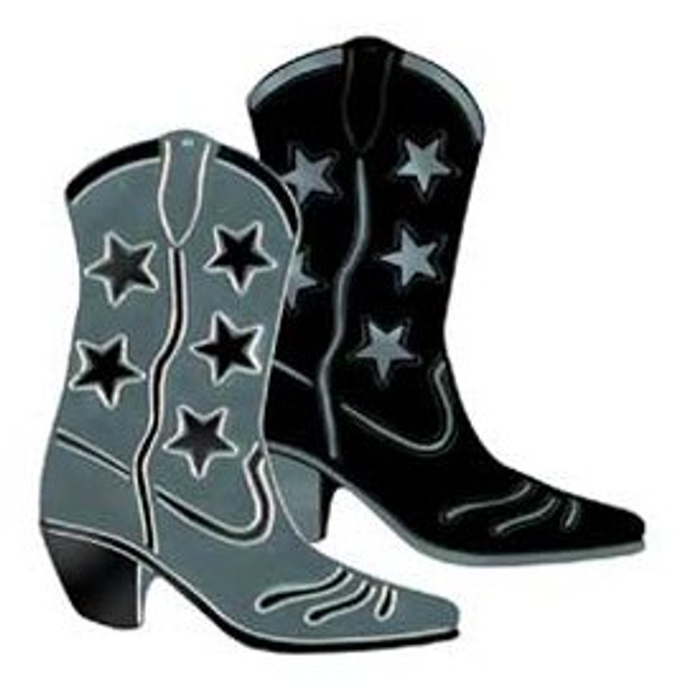 Cowboy Boot Black Foil Cut Out