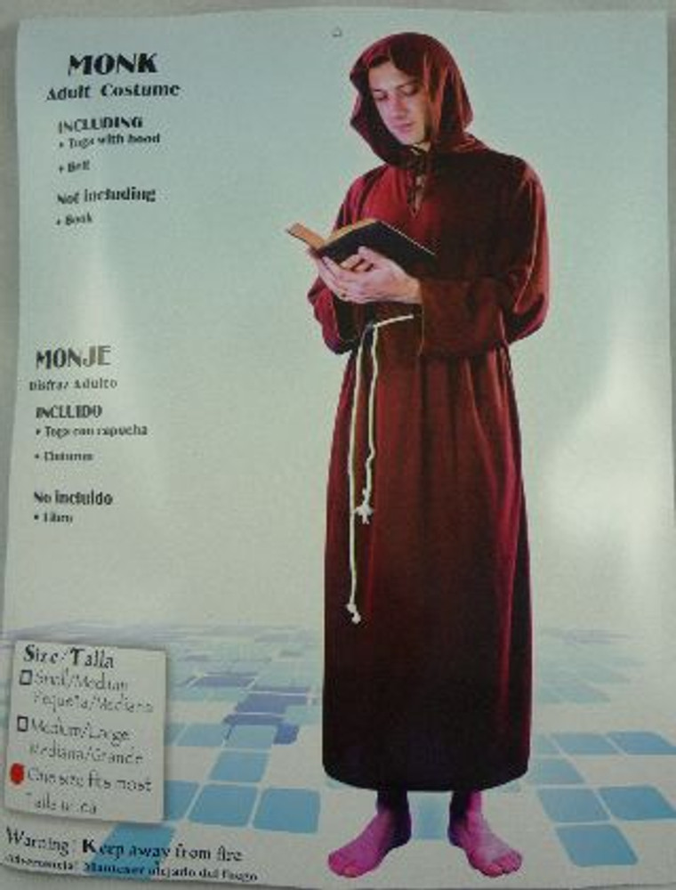 Monk Adult Costume