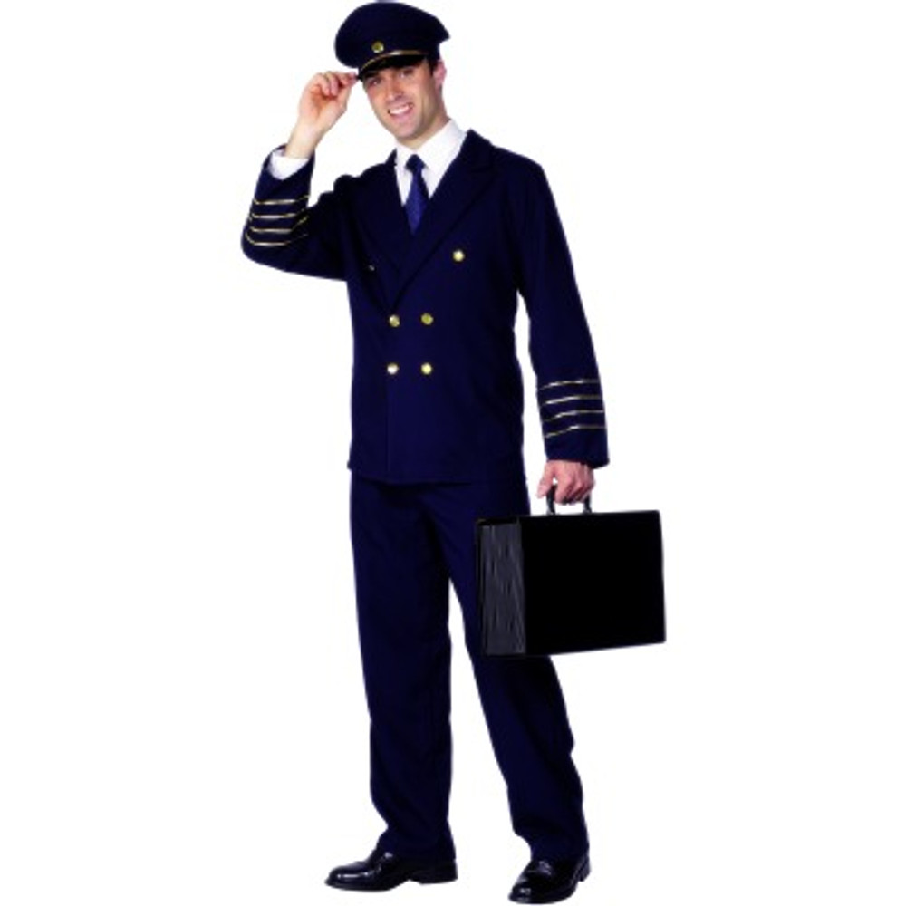 Pilot Hat Costume Mens Navy Blue