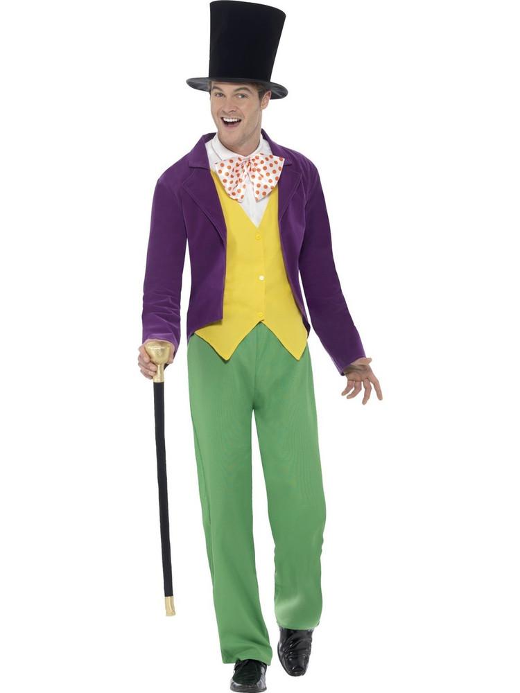 Roald Dahl Willy Wonka Adult Costume Sydney Melbourne Adelaide Perth Brisbane Canberra Australia