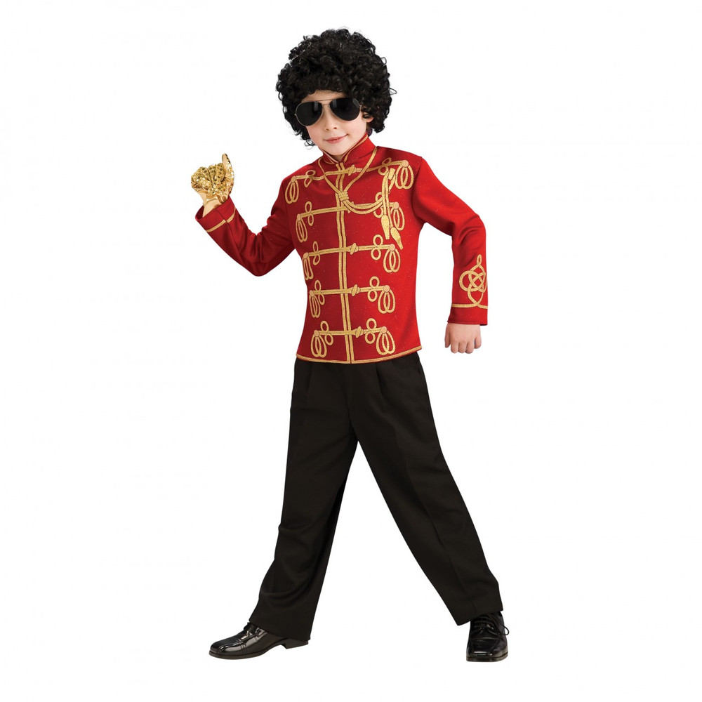 Michael Jackson Boys Red Military Costume