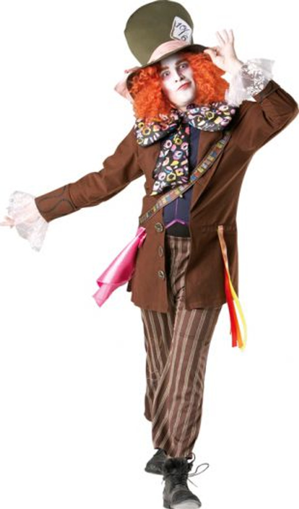 Mad Hatter Alice In Wonderland Mens Costume