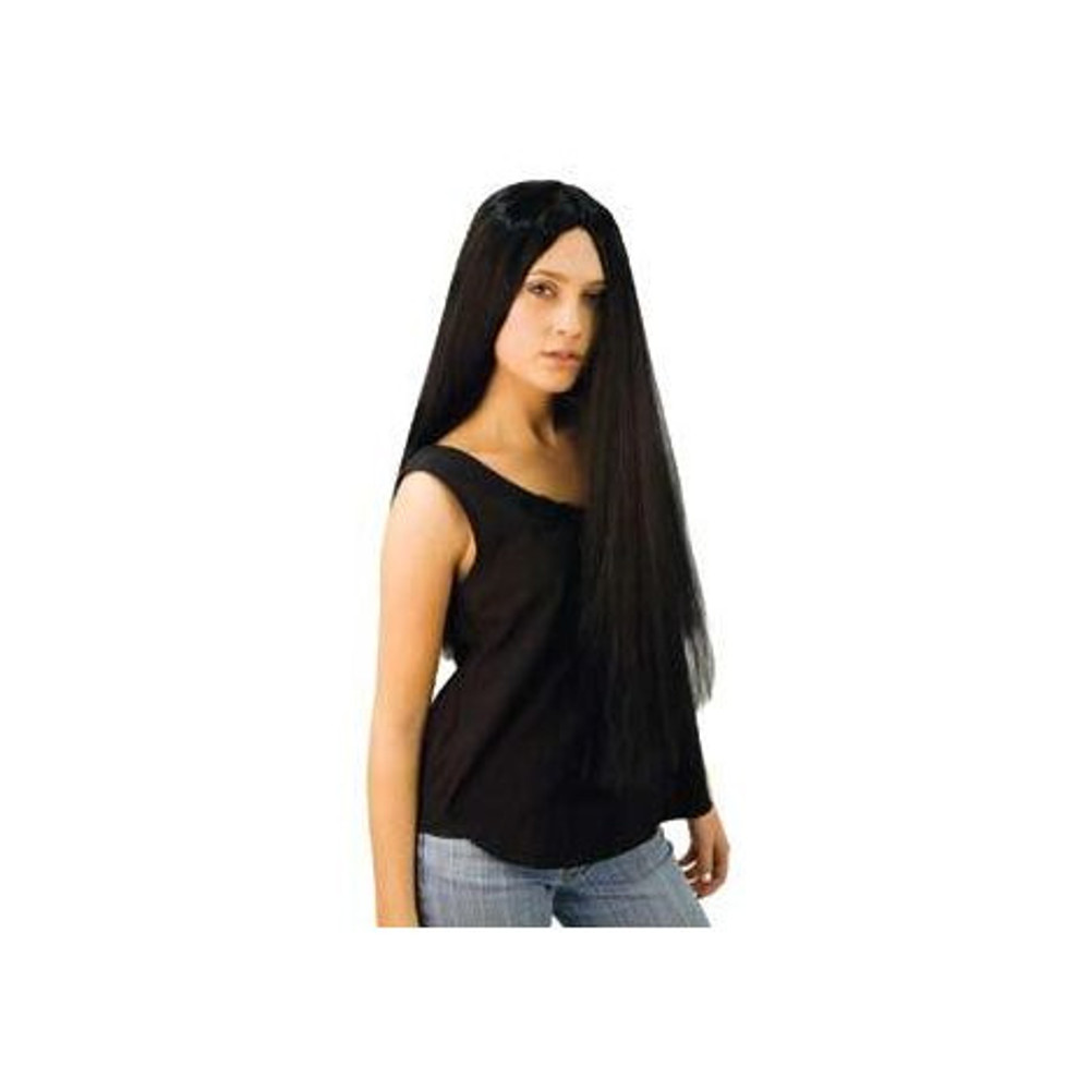 Long Straight Morticia Wig -  Black