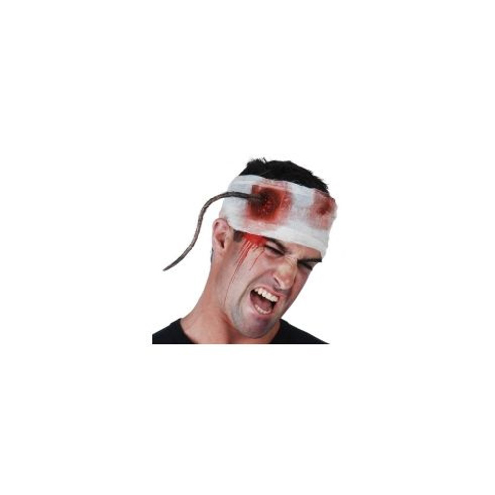 Head Bandage with Rat Tail & Blood
