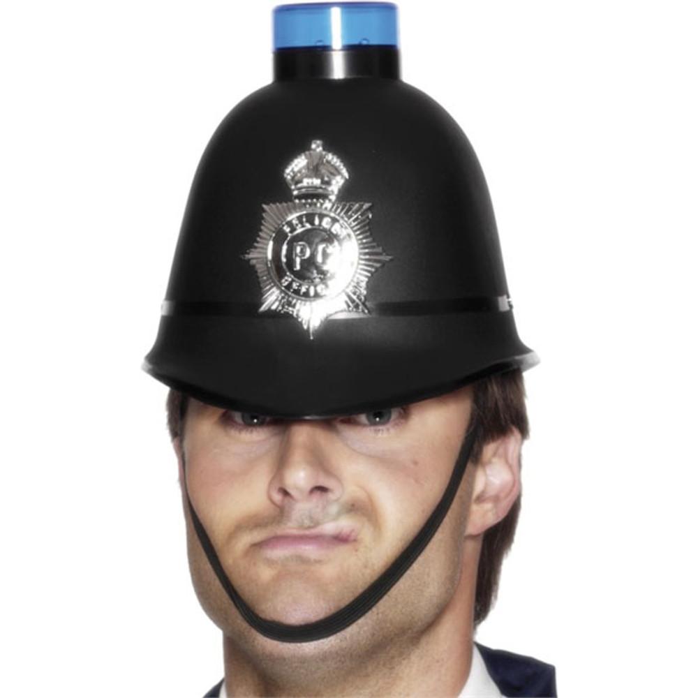 Police Bobby Helmet W Light
