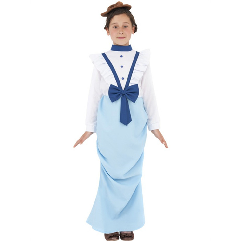 Colonial Posh Victorian Girl Costume Dress