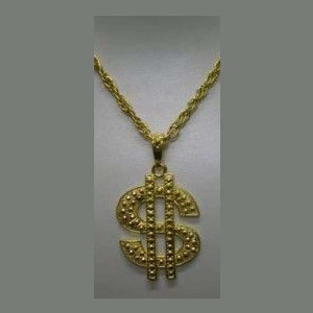 Gold Dollar Bling Necklace