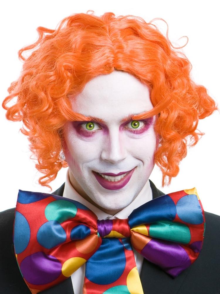 Alice In Wonderland Mad Hatter Wig And Eyebrows Bright Orange