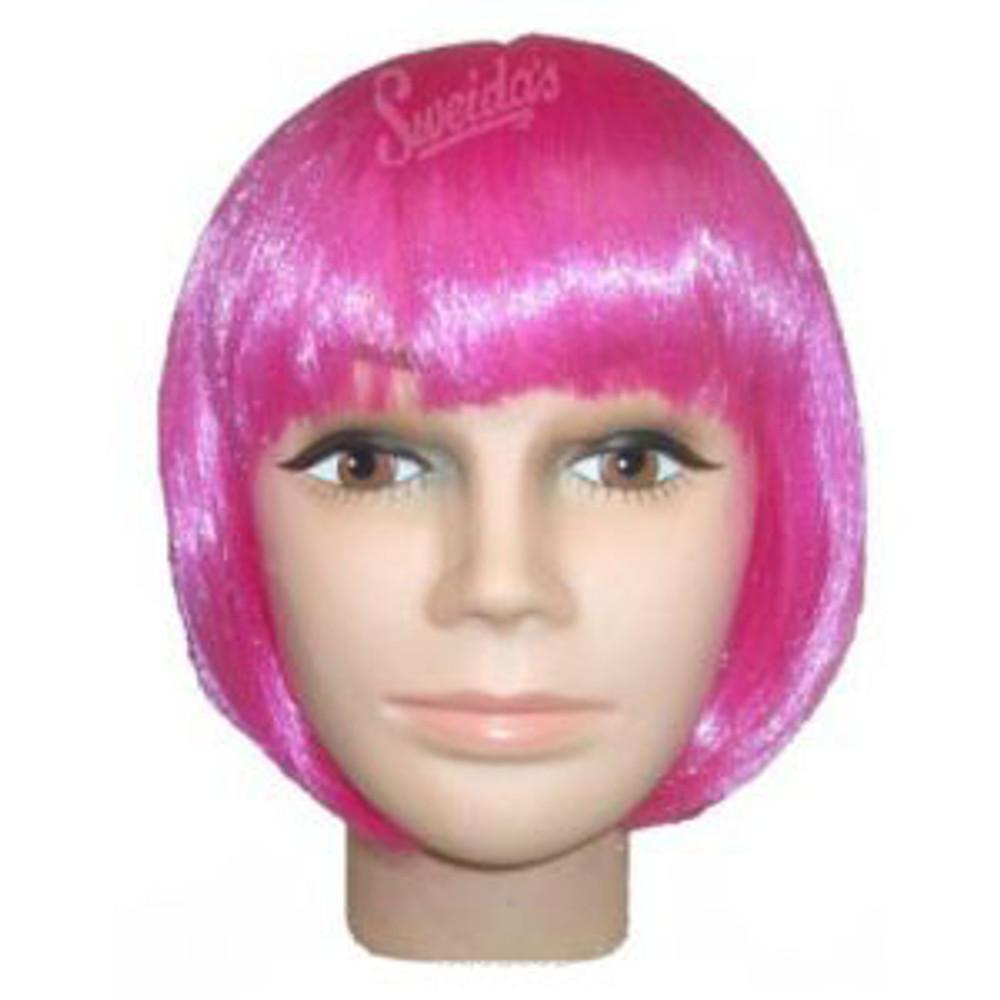 Bob - Hot Pink Flapper Adult Wig