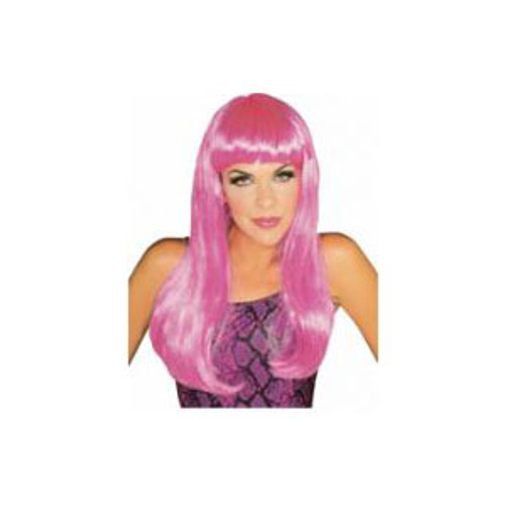 Long Glamour Wig - Pink