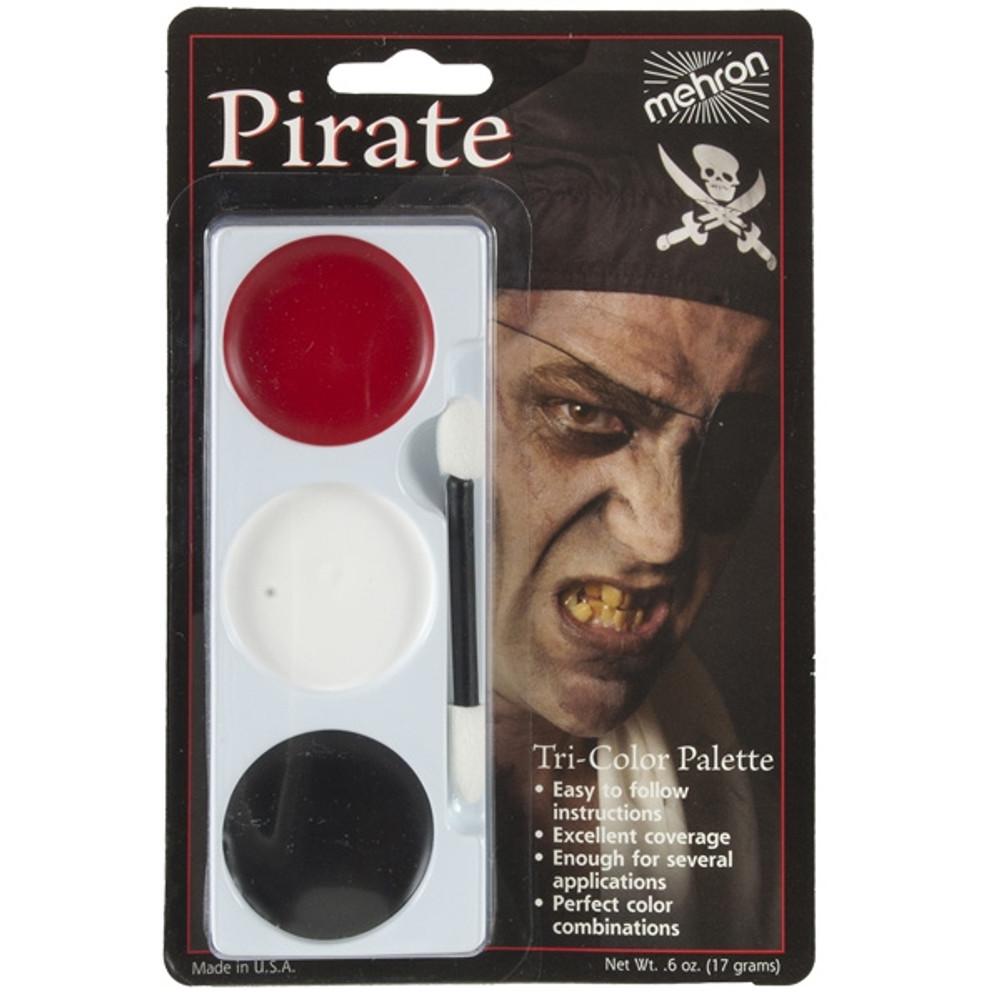 Tri-Colour Make-up Palette-Pirate